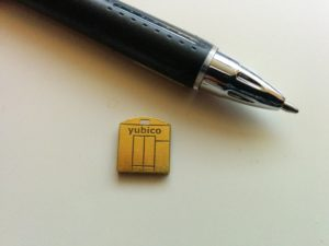 My YubiKey Nano – with a pen for size comparison.